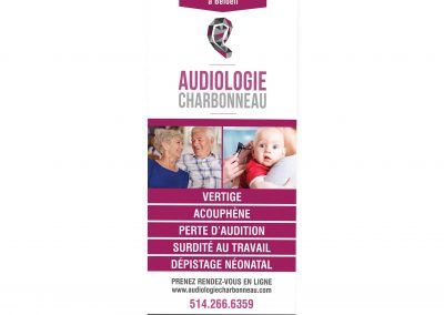 Audiologie Charbonneau | Roll up #1