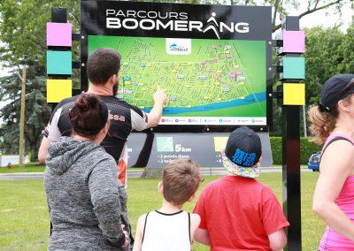 Enseigne Parcours Boomerang – Ville de Beloeil