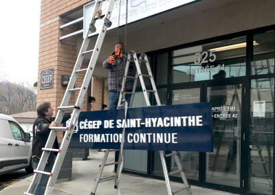 Dessin technique, production et installation : Enseigne lumineuse – Cégep de Saint-Hyacinthe
