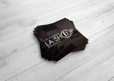 Coiffure La Shop Design – Création de logo